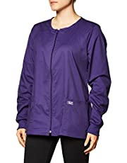 CHEROKEE Women's Workwear Scrubs Core Stretch Zip Front Warm Up Jacket