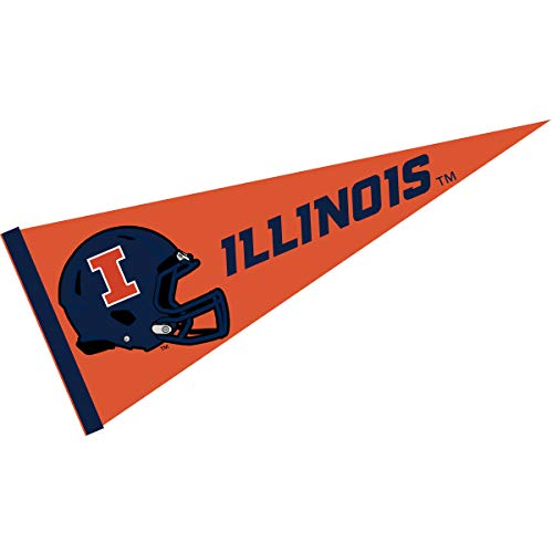 College Flags and Banners Co. Illinois Fighting Illini Football Helmet Pennant
