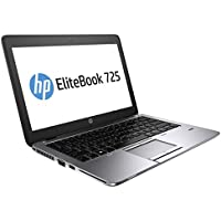 HP P0B94UT EliteBook 725 Notebook with 12.5 Display, AMD A10-7350B Processor up to 3.3 GHz Turbo, Windows 7 Professional 64-Bit (Silver)
