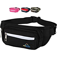 Pro Helios Premium Fanny Packs for Men & Women Water Resistant Waist Bag for Outdoor Activities, Traveling, Hiking, Biking, Running & More | Durable Zippered Pockets for iPhone & Accessories