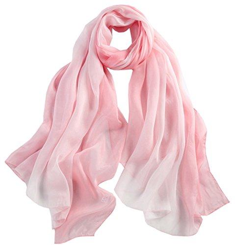 5 Mujer bufanda Largo Seda Chale colorida Anti Invierno Todo Color Degradado Rosa Verano Gran Uv Bufanda r1t5Wr7xnq