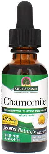 Nature's Answer Alcohol-Free Chamomile Flower, 1-Fluid Ounce