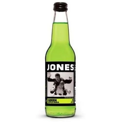 Jones Green Apple Pure Cane Soda, 12 Ounce -- 24 per case. by Jones Soda Co.