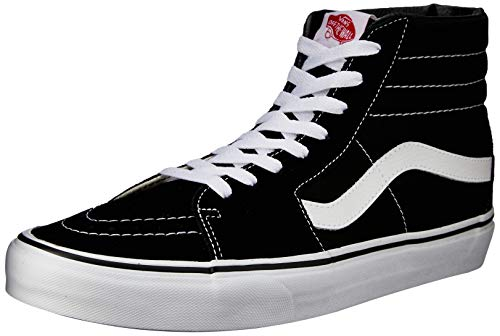 Vans Unisex Sk8-Hi Black/Black/White Skate Shoe 5.5 Men US / 7 Women -