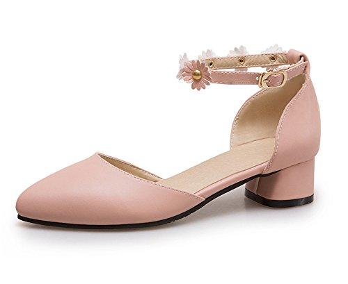 Pie Correa Vestir Verano Fornido Sandalias Fiesta Mujer Zapatos 35 Negro  Dedo Tamaño Pink Grande Zapatillas Tobillo 42 Bajo ... 1cd36e4ef4a4