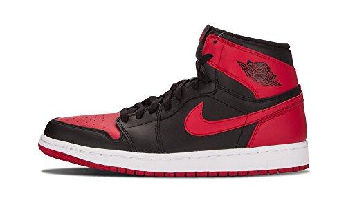 Air Jordan 1 Retro High OG Men's Shoes Black/Varsity Red/White 555088-023 (11 D(M) US)