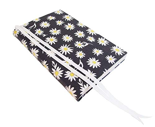 Paperback Book Cover DAISIES Floral Stretch Fabric, Paperback Novel Book Sleeve for Paperback 6 x 9 ()
