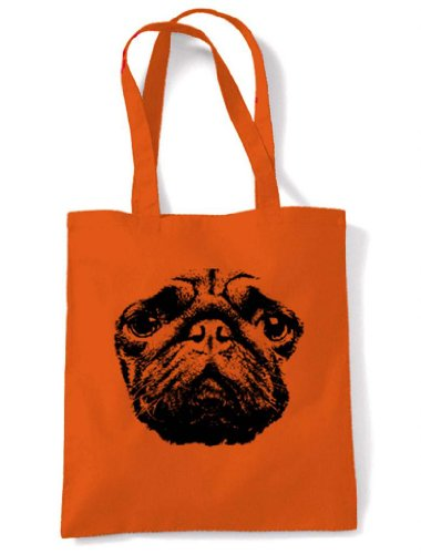 Eco Dog Tote Shopping Friendly Bag Eco Pug Shopping Dog Pug Orange Friendly Tote Bag wTqXqEpf