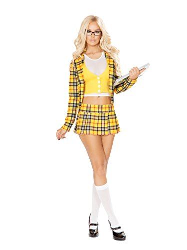 3pc School Girl without a Clue - Clue Halloween Costumes