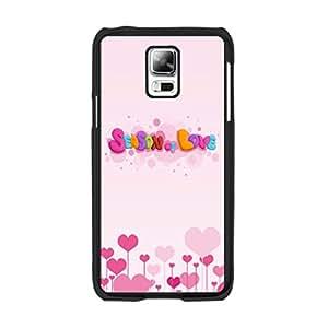 Cute Pattern Samsung I9600 Phone Case - Elegant Hard Cartoon Samsung Galaxy S5 Protective Case Cover for Teen Guys (black PNO129)