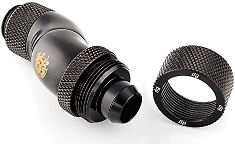 Bitspower G1//4 to 3//8 ID 90/° Triple Rotary Matte Black 5//8 OD Compression Fitting V3 for Soft Tubing