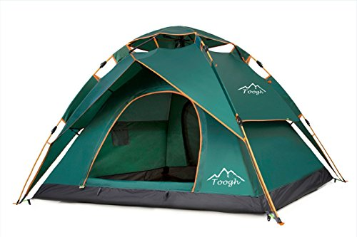 Toogh Waterproof 3 Season Tent for Camping/2-3 Person Camping Tent/Backpacking Tents (Army green,Sky blue,Light green ,Orange red and Dark green color options )