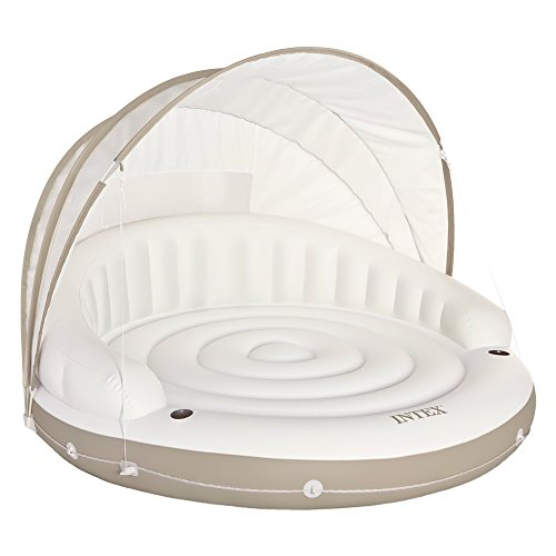 "Intex Canopy Island Inflatable Lounge, 78"" X 59"""