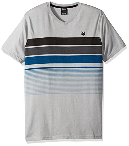 Zoo York Men's Short Sleeve Stripe Tee, Water Monument Heather, (York Water)