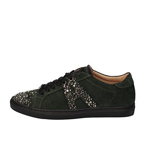 alessandro-dellacqua-sneakers-woman-green-suede-6-us-36-eu