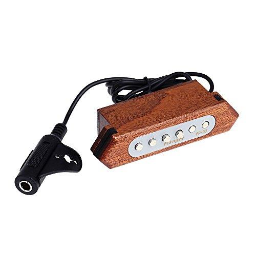 Flanger FP-02 Acoustic Guita Magnetic Soundhole Pickup Transducer Wooden for 39 40 41 42 Inch