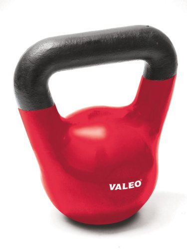 Valeo 25-Pound Kettle Bell Weight With Cast Iron Handle For Squats, Pulls and Overhead Throws To Build Strength And Endurance