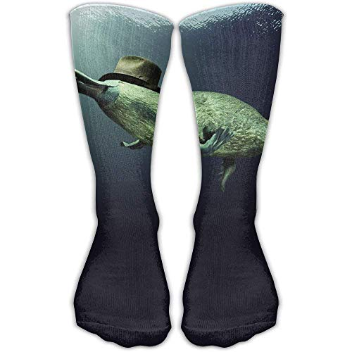 3d Platypus Underwater Outdoor Running Long Socks Novelty Hi