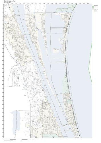 Where Is Merritt Island Florida On The Map.Amazon Com Zip Code Wall Map Of Merritt Island Fl Zip Code Map Not