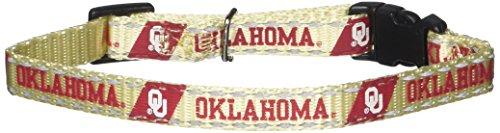 (Pet Goods Manufacturing NCAA Oklahoma Sooners Cat Collar, 3/8 x 8-12
