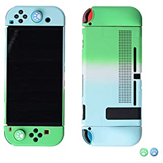 magictodoor Dockable Protective Case for Nintendo Switch - Handheld Grip Protector Cover - Include Thumb Grip Caps