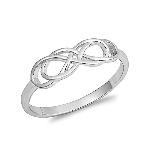 Sterling Silver Infinity Double Knot Ring - Size 7 - Sterling Silver Double Knot Ring