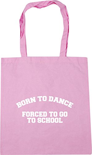 HippoWarehouse 10 forced school go x38cm dance Shopping litres Beach Classic to Pink 42cm Bag Gym Born to Tote to rqn4r