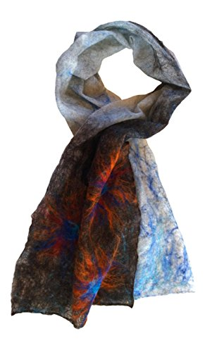 Handcrafted merino Felt Scarf Asiatic Lily by Mimi Pinto on Amazon UK