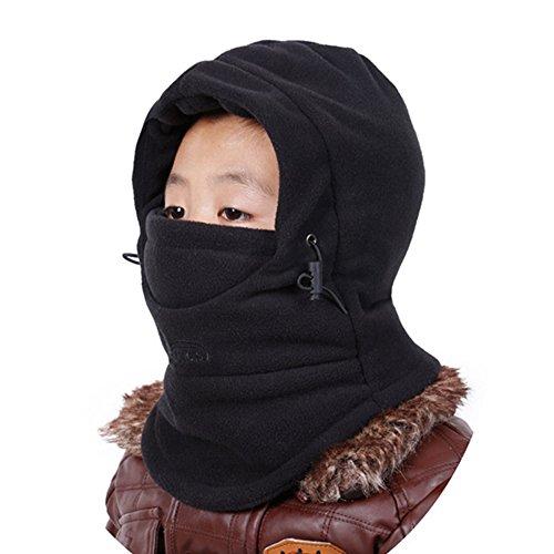 Hztg M141 Fleece Warm Full Face Cover Multi Tasker Balaclava Windproof Ski Mask Hat