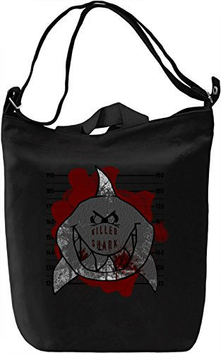 Killer Shark Mugshot Borsa Giornaliera Canvas Canvas Day Bag| 100% Premium Cotton Canvas| DTG Printing|