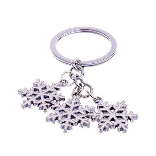 BinaryABC Christmas Snowflake Keychains Keyring Charm Pendants,Christmas Gift ()