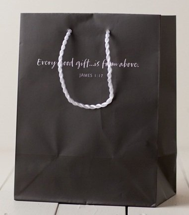 Every Good Gift (Dayspring 4688-6) Gray Medium Gift Bag by Dayspring