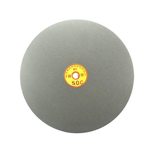uxcell 250mm 10-inch Grit 500 Diamond Coated Flat Lap Disk Wheel Grinding Sanding Disc by uxcell
