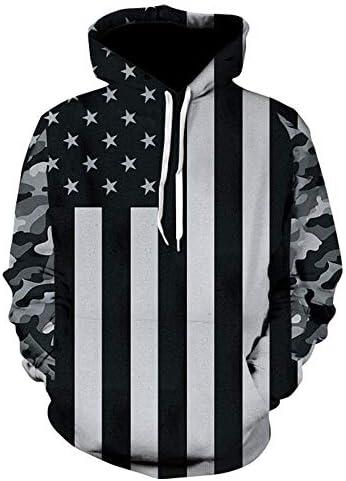 Sweatshirts Tops T-Shirts Kapuzenpullover 3D Print Pullover Hoodies Herrenmode Langarm O-Neck Pockets Hooded Sweatshirts Heißer Lose Hoodie^ Picture_Color_S