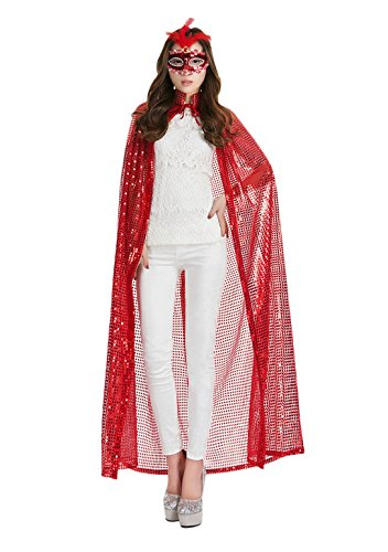 Women's Halloween Cloak Costume Bling Full Length Sequins Cape Goddess Essentials