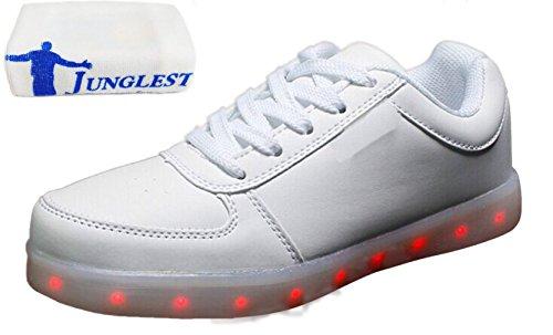 (Présents:petite serviette)JUNGLEST® - 7 Couleur Mode Unisexe Homme Femme USB Charge LED Chaussures Lumière Lumineux Clignotants Chaussures de marche Haut-Dessus LED Ch c25