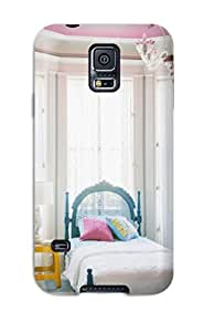 Cynthaskey Scratch-free Phone Case For Galaxy S5- Retail Packaging - Girl8217s Bedroom With Pink Chandelier