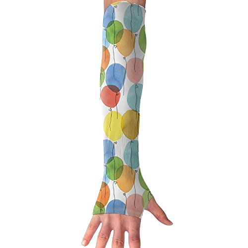 Colorful Balloons UV Protection Arm Sleeves Fitness Towel Sports Sun Sleeves Arm Sports Towel Cooling Ability For Outdoors Use Like Running Football - Shopping Center Columbus