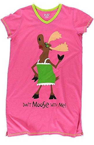 Don't Moose Lazy Camicia Collo Me V Notte One with da Donna agqqxfCtwE