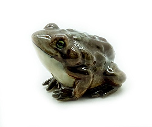 Animal Miniature Handmade Porcelain Statue Toad Frog Figurine Collectibles Gift