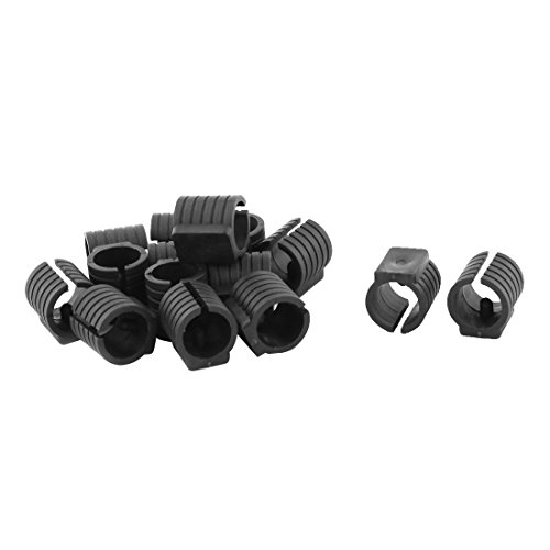 uxcell Plastic Room Furniture Cabinet Foot Protective Tubing Ending Cover Tube Insert 15pcs (Protective Inserts Plastic)