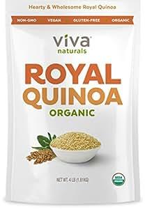 Viva Naturals - The FINEST Organic Quinoa, 100% Royal Bolivian Whole Grain, 4 LB Bag