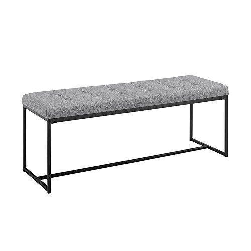 WE Furniture AZ48UPMBGY Entry Bench, Grey