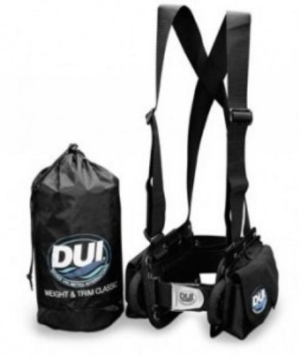 DUI Classic Weight Belt Harness for Drysuit Scuba Diving Dry Suit, Medium
