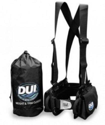 Weight System Scuba - DUI Classic Weight Belt Harness for Drysuit Scuba Diving Dry Suit, Medium