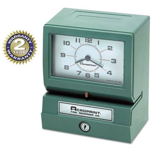 (ACP012070400 - Acroprint Model 150 Analog Automatic Print Time Clock with Day/1-12)