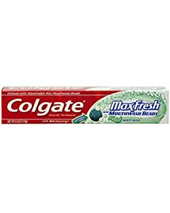 Colgate Max Fresh Minty Wave Toothpaste with Mouthwash Beads -6 oz