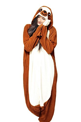 WOTOGOLD Animal Cosplay Costume New Sloth Adult Pajamas Brown (Exotic Animals Costume)