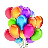 LED Light Up Balloons, 36 Pcs Glow Balloons with 27m Ribbon Multicolor Balloons with Flashing Lights Inside Inflate Air or Helium, Decoration for Parties Birthday Christmas - Glow in the Dark Balloons