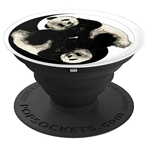 (Yin Yang Pandas Pop Socket For Panda Lover Gift - PopSockets Grip and Stand for Phones and Tablets)